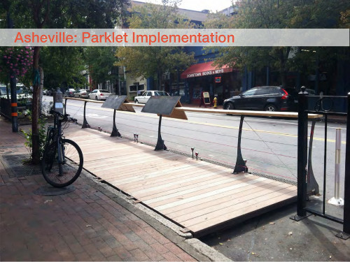 Asheville Parklet implementation