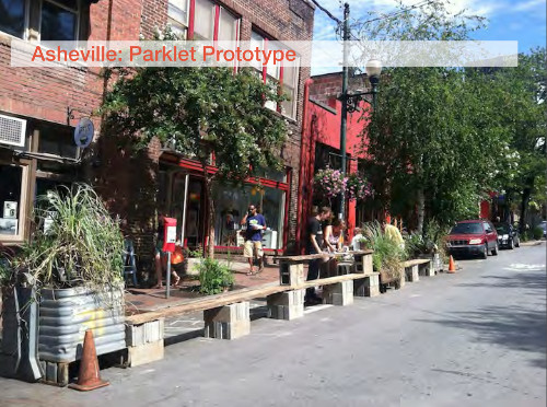 Parklet prototype in Asheville