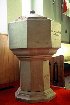 Fig. 10. Glanford, St Paul, font.