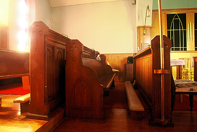 Fig. 12. Glanford, St Paul, choir stalls.