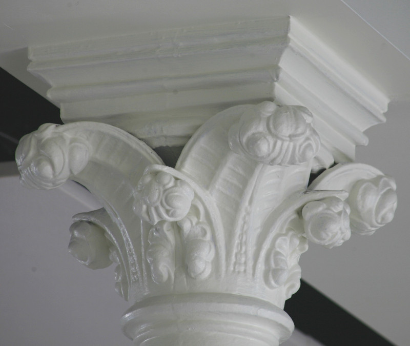 Fig. 12. Guelph, Basilica of Our Lady Immaculate, nave basement, detail of cast-iron capital.