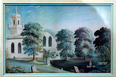 Fig. 2. Watercolour of St John's Anglican Church, Ancaster, 1824, preserved in the church archives.