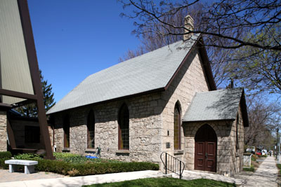 Fig. 15. Wesleyan Methodist (now part of Ryerson United) Church, Ancaster, 1869.