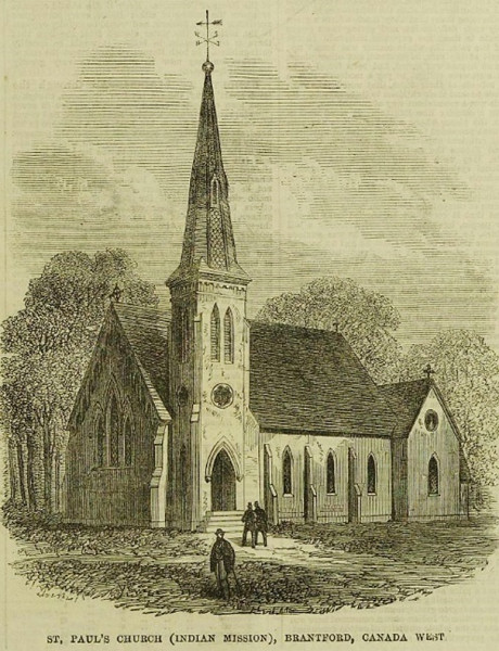 Fig. 4. St Paul's Anglican Church, Sour Springs, from The Illustrated London News, 2 Feb. 1867, 113.
