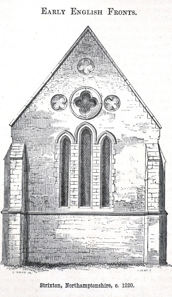 Fig. 9. Strixton (Northamptonshire), exterior from E.
