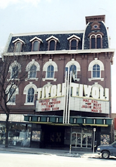 Tivoli Theatre before its front was torn down