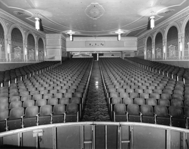 Looking out from the stage (Photo Credit: Ontario Government Archives)