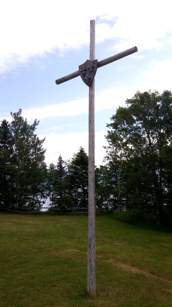Cross celebrating the site of Jacques Cartier's first encampment
