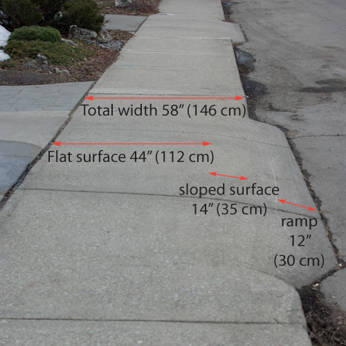'Modified Standard' Sidewalk Curb Cuts Put Pedestrians At
