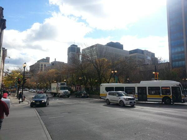 Traffic was free-flowing on King at James Street on midday (RTH file photo)