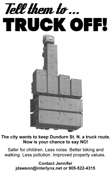 'Tell them to Truck Off!' Download this poster as a PDF