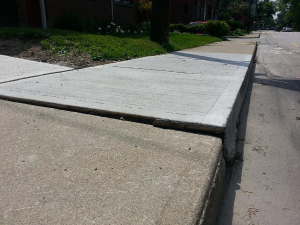 Uneven sidewalk (RTH file photo)