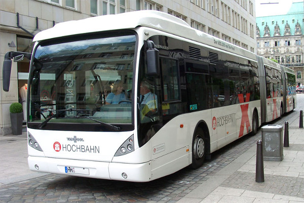 Bi-articulated Bus design by Van Hool with a length of 25 metres (Image Credit: Van Hool)