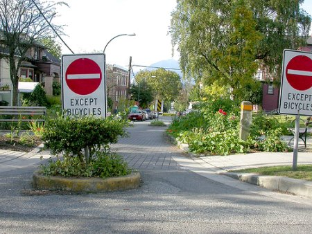 Bicycle-only speed hump in Vancouver (RTH file photo)