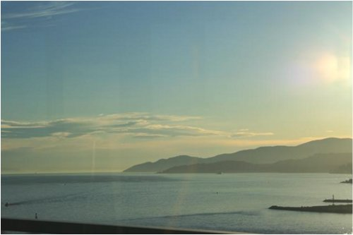 Lighthouse Park and Howe Sound from First Narrows Bridge (from the bus).