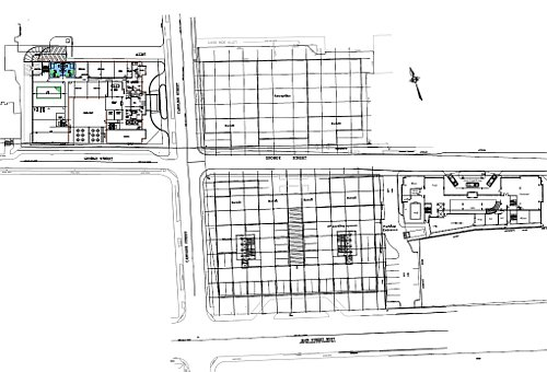 Site plan for 150 Main Street West and 20/22 George Street
