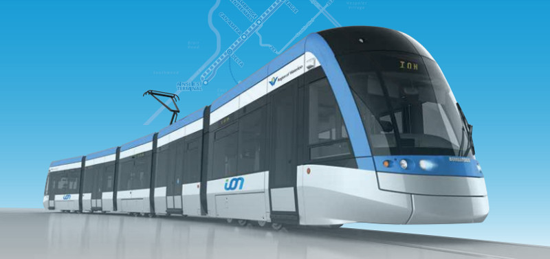 ION LRT vehicle