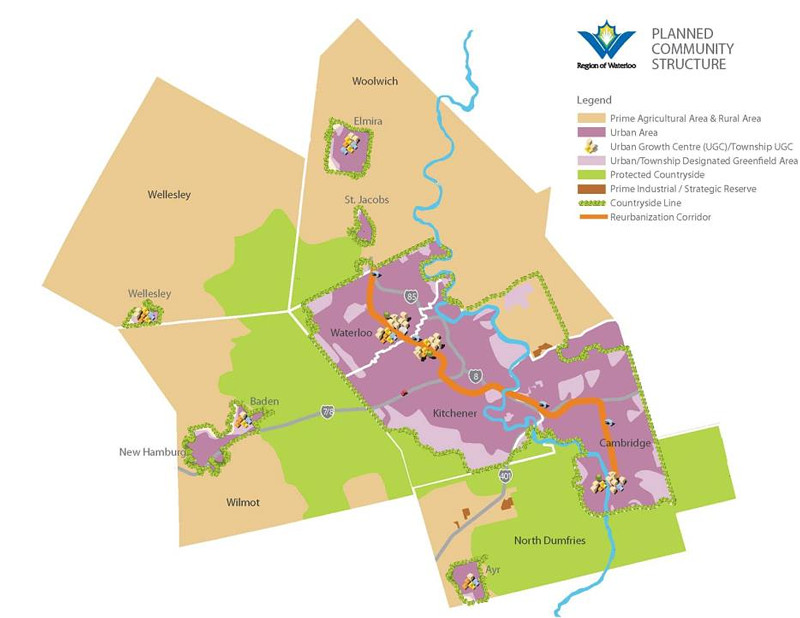 Waterloo Region land use map
