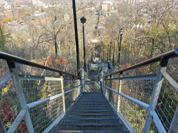 Wentworth Stairs, looking down from Sherman Access (RTH file photo)