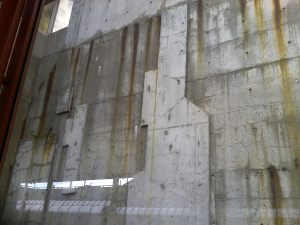 Aging Concrete Retaining Wall at Westboro Station (Photo Credit: Fraser Pollock)