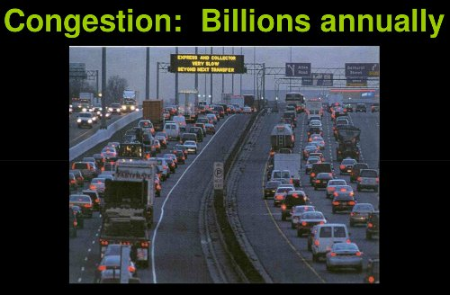 Congestion costs billions annually