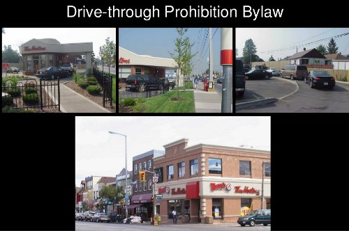 Drive-through prohibition bylaw