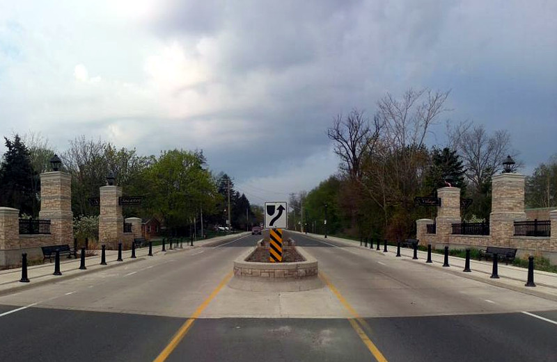 Traffic calming on Wilson Street in Ancaster (RTH file photo)