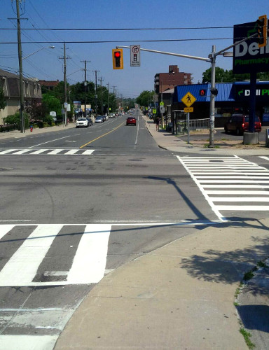 Zebra crossing at Aberdeen and Dundurn