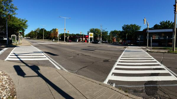 New zebra crossing at York and Locke (Image Credit: Jason Leach)