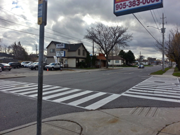 Crosswalk at Upper Wellington and Inverness